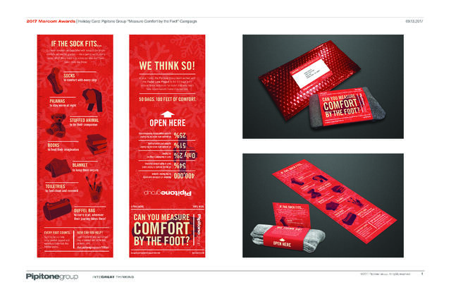 2017 Marcom Awards - Holiday Card - Pipitone Group - Measure Comfort by the Foot - Campaign.jpg